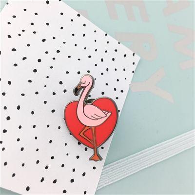 Tropical Flamingo Enamel Pin | Punky Pins
