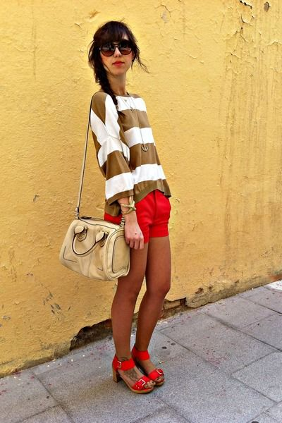 Bold: Shoes, Fashion, Red, Style, Color, Dream Closet, Outfit, Shorts, Pop