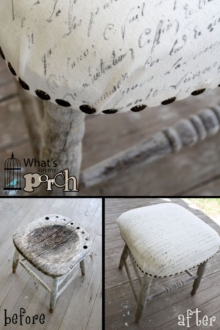 Vintage stool makeover. What's On My Porch