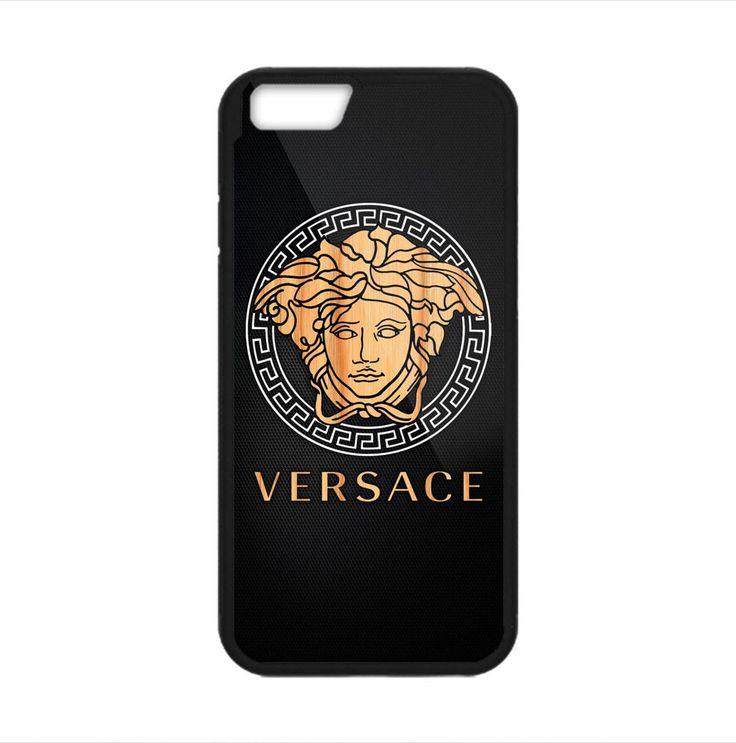 Versace Wood Logo Carbon For iPhone 6 6s 6s plus Print On Hard Plastic Case #UnbrandedGeneric