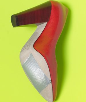 Duct Tape as Shoe Soles  Tape a piece onto each sole of new, slippery shoes for added traction.