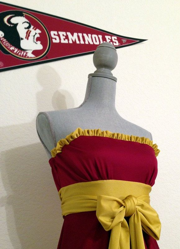 Gameday Dress FSU Game day Dress.  Noles by TrueColorsCouture, $80.00