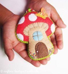 Eu Amo Artesanato: Cogumelo com molde