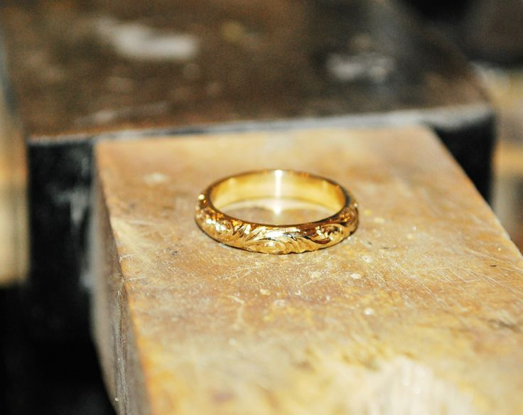 making finishing touches to a bespoke wedding ring  #handmade #wedding #ring #bespoke