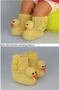 Baby Chick Boots (Booties) http://www.hasp.ca/patterns/booties/
