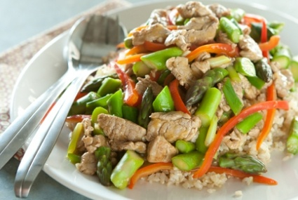Pork Stir-Fry with Asparagus, Peppers and Green Onions | Whole Foods ...