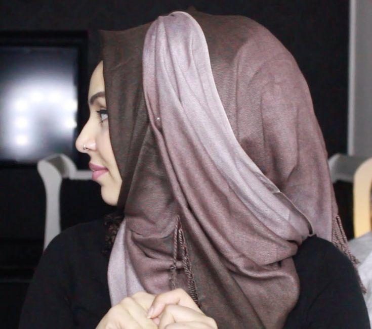 Ombre Pashmina Hijab Tutorial ft. Chicquehijaabz |by fatihasWORLD