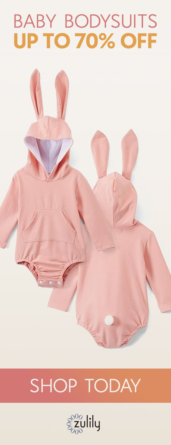 Sign up to shop baby bodysuits - up to 70% off. Your little one is sure to inspire grins in this all-cotton bunny bodysuit. Baby bodysuits are a staple baby clothing item for newborn boys and girls alike. From long-sleeve to short-sleeve and funny to vintage, our cute selection features a wide variety of cuts and designs at great prices.