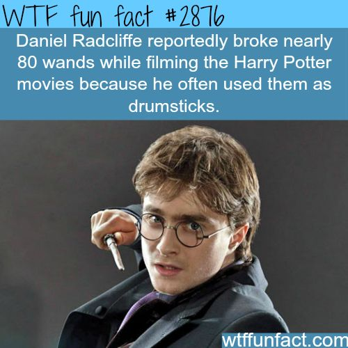 Daniel Radcliffe Wands -  WTF fun facts