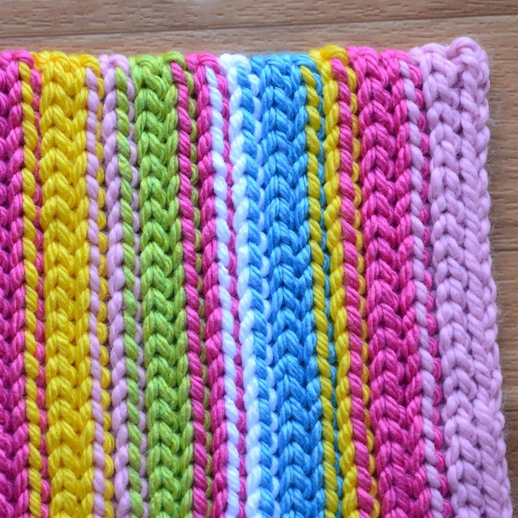 Crochet in Color: Stripey Spring Rug Instructions