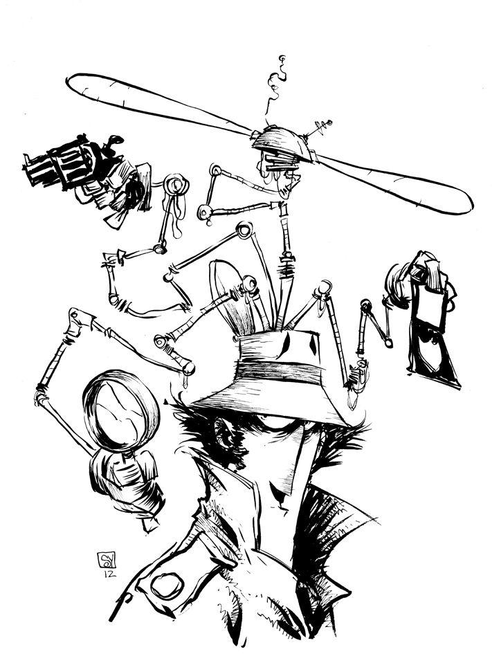 Skottie Young unique style continues to be one of the best in comics.     http://2.bp.blogspot.com/-dHwJQlDidS8/UCuwj5RuVbI/AAAAAAAAC0k/ERslyWfP76s/s1600/Inspector+Gadget2.jpg