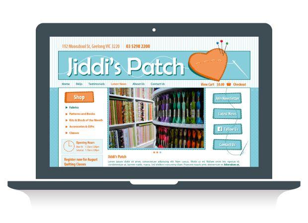 Jiddi's Patch Website Design - Martlette Graphic Design Geelong www.martlette.com.au