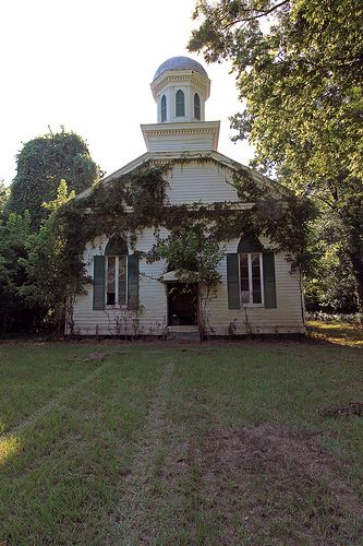 Beautiful abandoned Baptist church in the ghost town of Rodney, MISSISSIPPI. Built in 1850, it was in use until 2005 when it flooded during Hurricane Katrina.