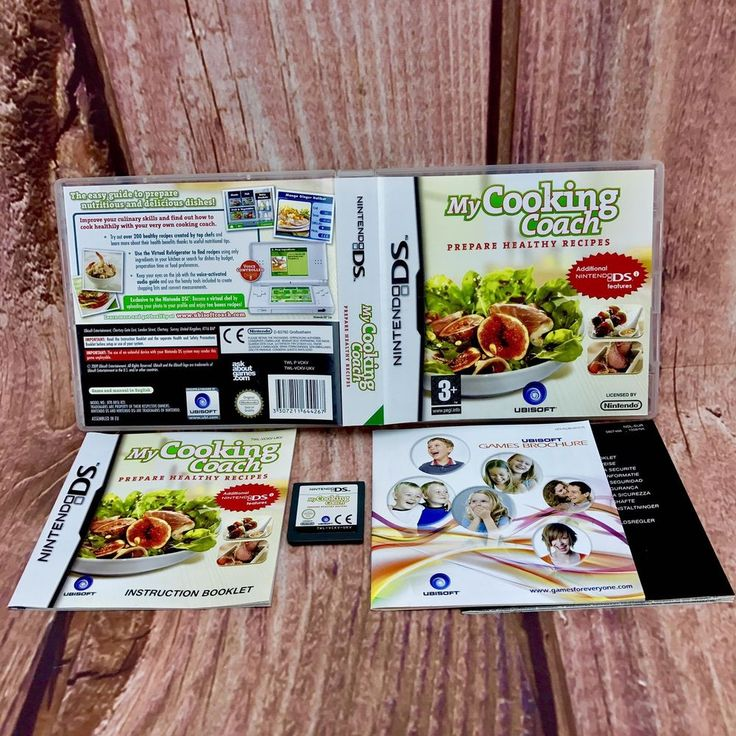 My Cooking Coach Prepare Healthy Recipes Game for Nintendo DS DSi Lite XL Cook