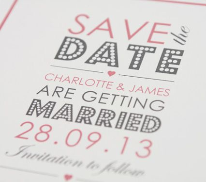 Save the Date Five Dollar Shake Cards