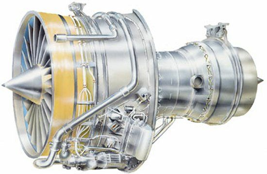 Diagram of the RollsRoyce RB211535 turbofan