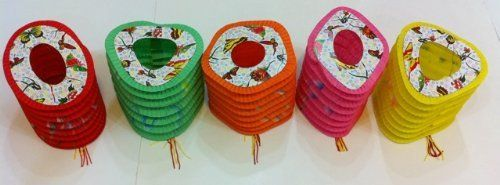 12 Chinese Japanese Festival Paper Lanterns by cn. $3.75. The paper lanterns are good for decoration and party use.