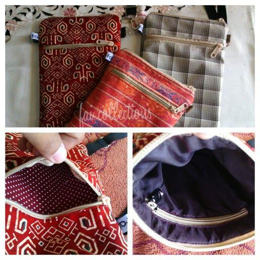 Run Around Bag Made by Tanti FAI Collections  Tas untuk jalan-jalan, pas utk tempat hp, dompet, tisue, dll.  1 kantong depan & 1 kantong dalam. Size +/- 18x20 cm