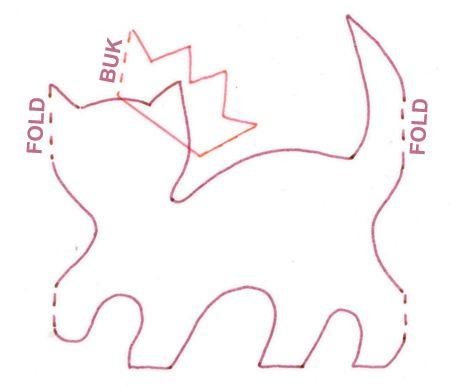 De søde og frække katte kan bruges enkeltvis som bordkort eller som bordpyntsremse.