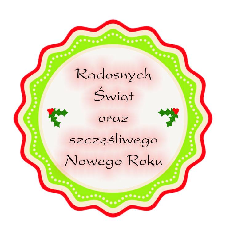 Etykietka ze świątecznymi życzeniami - doskonała do cardmakingu.