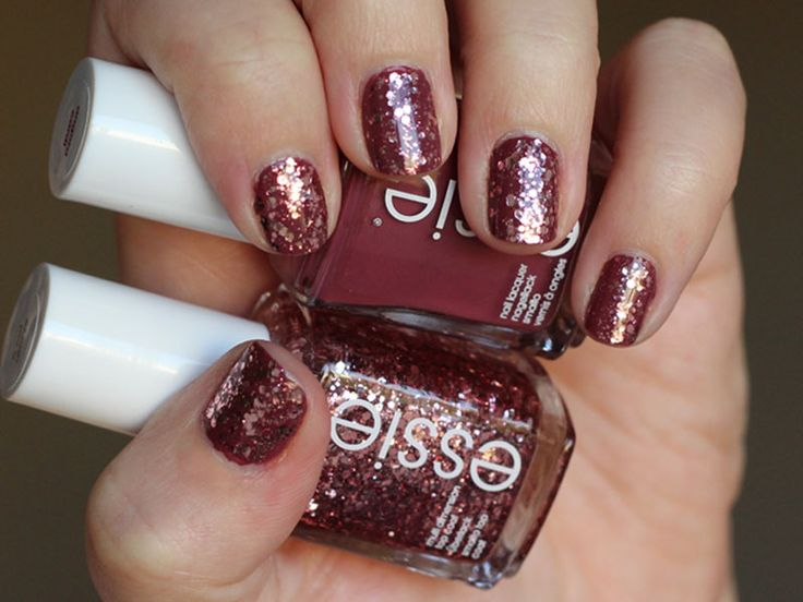 Essie 'a cut above' Luxe top coat and 'angora cardi' pink nail polish