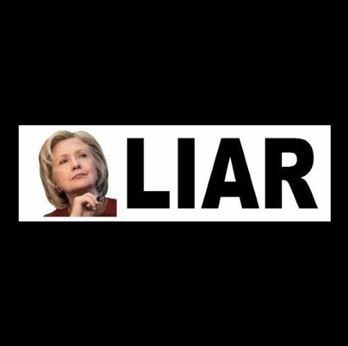 "New ""LIAR"" Anti Hillary Clinton BUMPER STICKER decal Obama GOP, for prison, 2016"