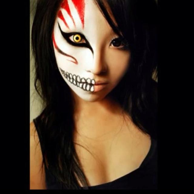 Ichigo Face Painted Mask Face Painting Halloween Scary Makeup Halloween Makeup