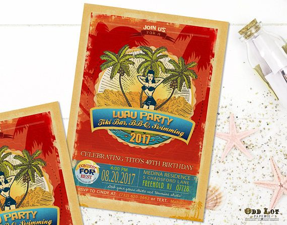 43 best Printable Birthday and Party Invitaions images on Pinterest - best of invitation templates for beach party