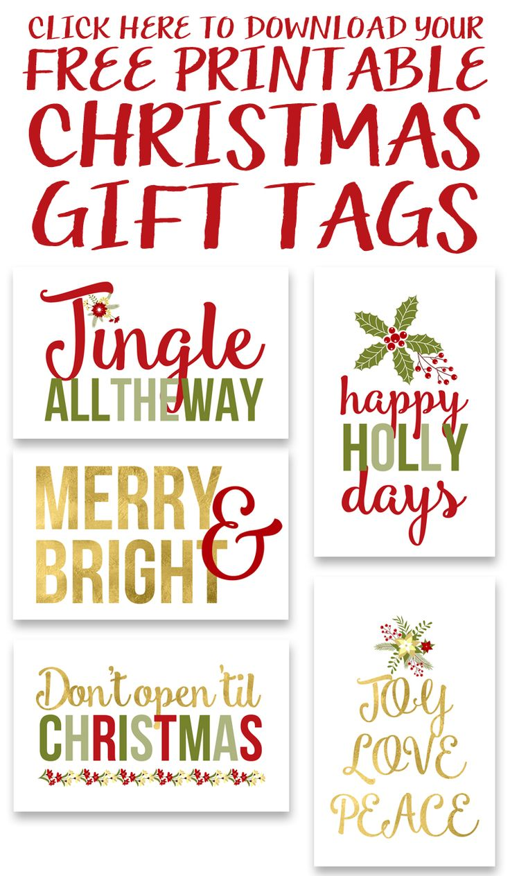 Click to Download the Free Printable Christmas Gift Tags