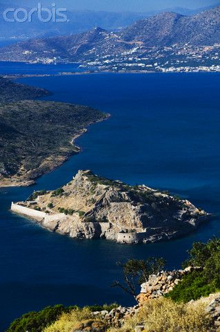 Aerial View of Spinalonga Island Greece