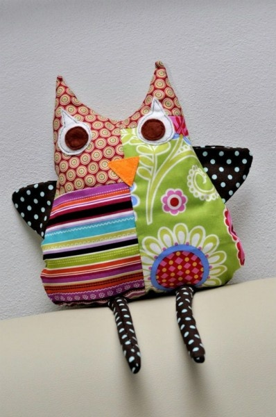 Cute fabric owl by Mirka