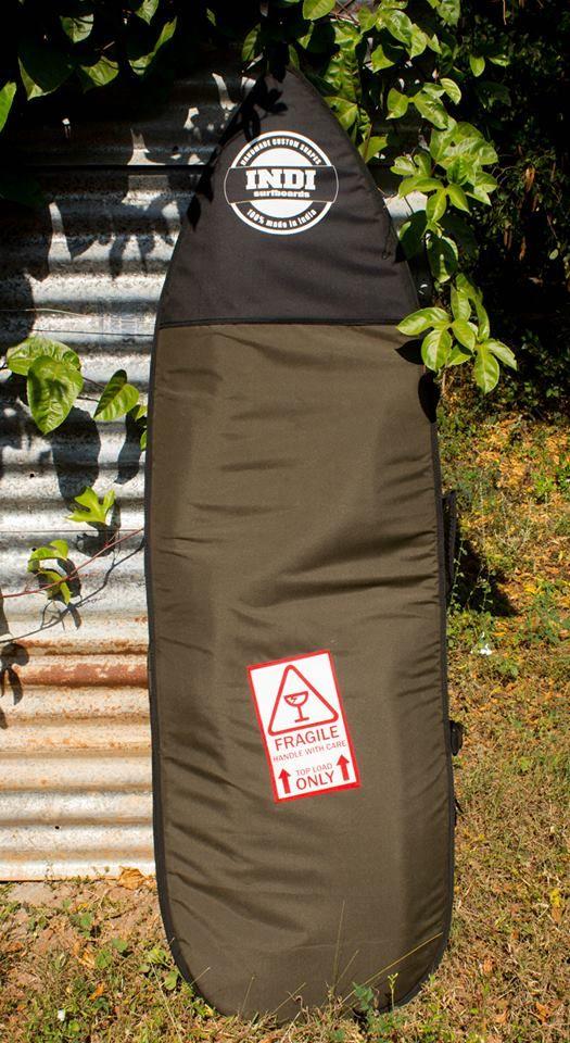 Army look, khaki green,surfboard bag, Indi Surfboards brand made by Esendi Beachwear.