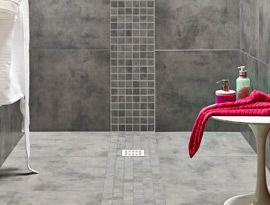 Zamora Grey Wall and Floor Tile 29.5x59.5cm   Topps Tiles