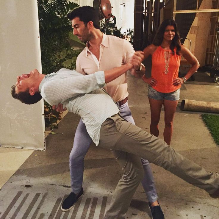 """""""Nothing to see here… Just two super manly-men dancing. Bring it on @dancingabc ;) #janethevirgin #season2 @andygrammer has our vote."""""""