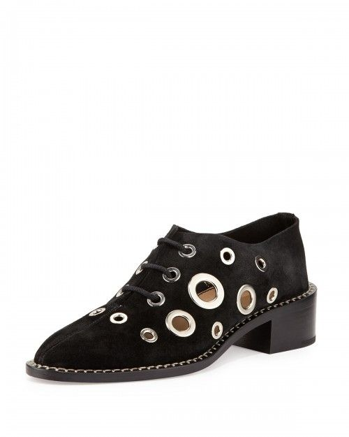 Proenza+Schouler+Circle+Grommet+Lace+Up+Oxfords+Black+Women's+36+5b+6+5b+|+Shoes+and+Footwear