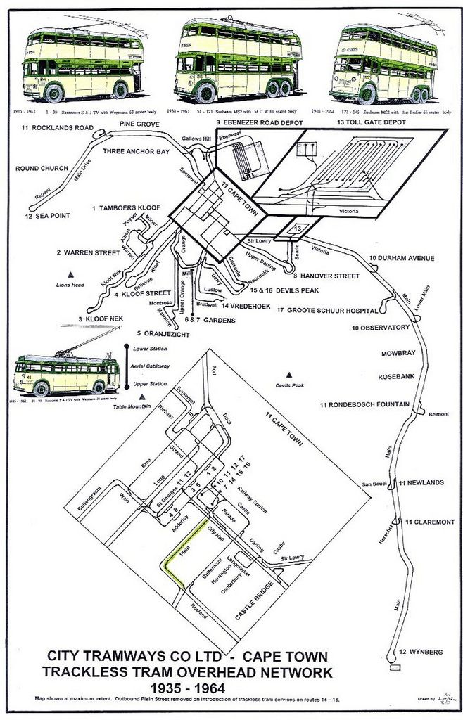 City Tramways Trackless Tram Overhead Network