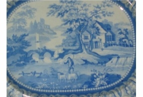 BLUE WILLOW MEAT PLATTER. £400