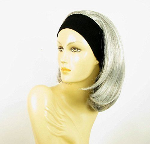 WIG UNIVERS Headband Wig Woman Midlong Smooth Gray Ref 51 Mady *** Find out more about the great product at the image link.