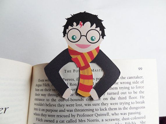 Harry Bookmark buddy by bethydesigns on Etsy, £2.00