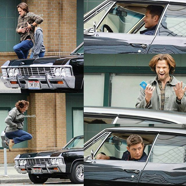 pictures from #BTS  #Supernatural S12.E05  Cr: twitter : KelsiSPhoto