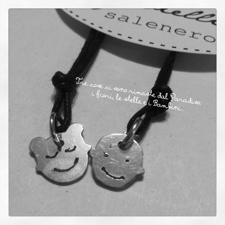 baby boy and baby girl / facejewel / silver pendants / Handmade Sterling Silver Jewellery / salenero.com