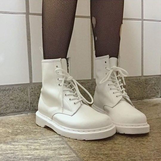The White Mono 1460s. Shared by babypunx on Instagram.