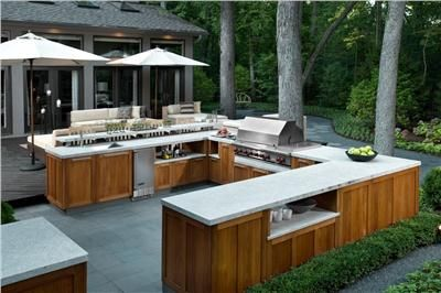 What could you whip up in this outdoor kitchen? (Or maybe the question is - what COULDN'T you cook in this fully outfitted outdoor kitchen designed by Susan Fredman?!)