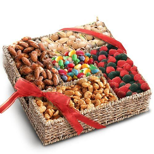 Summer Snackers Sweets and Nuts Gift Basket - http://www.yourgourmetgifts.com/summer-snackers-sweets-and-nuts-gift-basket/