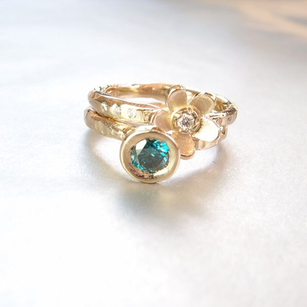 Beeld van Stapel ring in wit goud