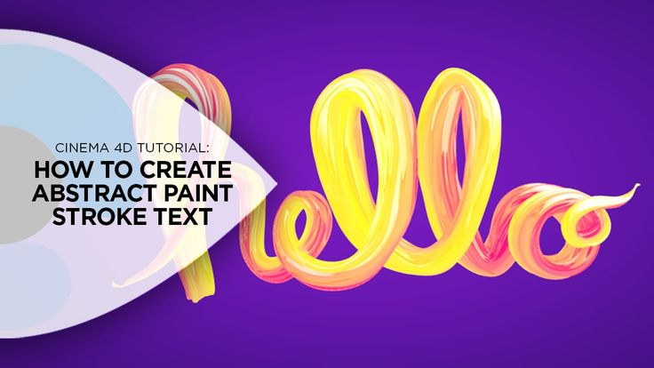 How to Create Abstract Paint Strokes in Cinema 4D