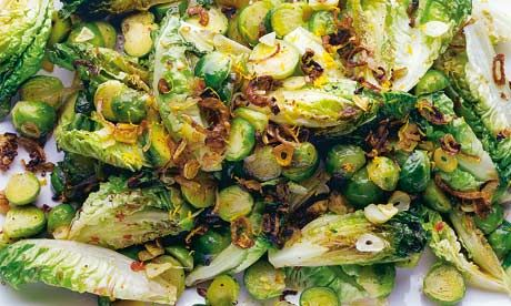 Roasted brussels sprouts with hoisin sauce, plus pork chops with quince and lemongrass recipes   Yotam Ottolenghi