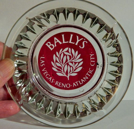 Rare Vintage Bally's Hotel Casino Las Vegas, Reno, Atlantic City Ashtray; Rare Item With 3 Casino Cities On It; Reno Casino Sold;Collectible