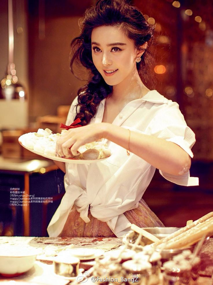 """This reminds me of Juno baking. Fan Bingbing looks just how I picture Juno. """"A Fantastic New Year"""" Fan Bingbing by Chen Man for Elle China March 2015"""