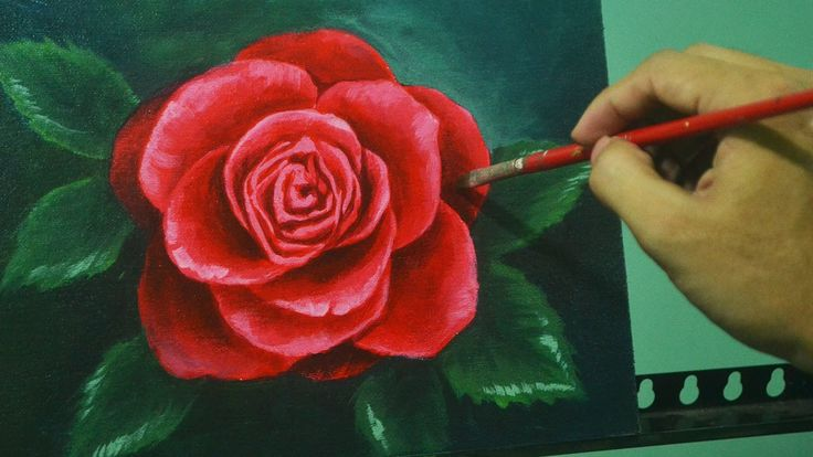 57:34  Acrylic Painting Lesson - Red Rose by JM Lisondra